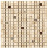 TRA5807I2 - 5by8x5by8 Travertine Beige Polished & Straight Edge W-Glass